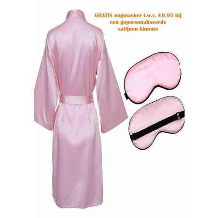 Satin-Luxury Oogmasker licht roze satijn