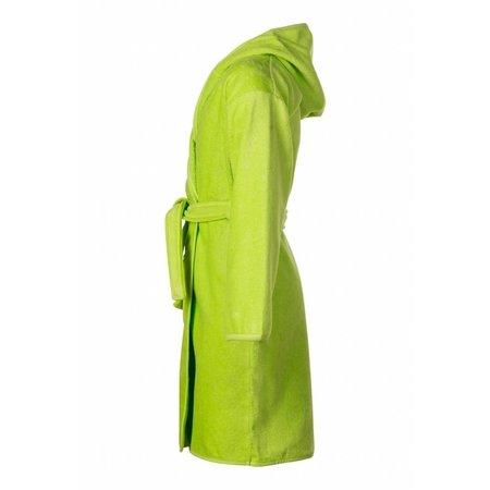 Badrock Baby badjas lime groen katoen - met capuchon