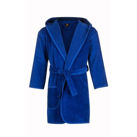 Badrock Baby badjas kobaltblauw katoen - met capuchon