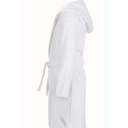 Badrock badjas Baby badjas wit katoen - met capuchon