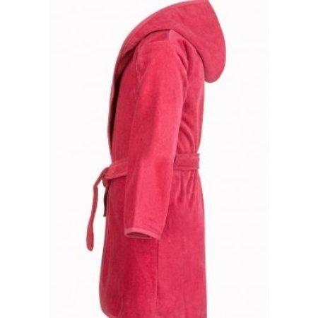 Baby badjas roze katoen - met capuchon