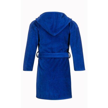 Badrock badjas Baby badjas kobaltblauw katoen - met capuchon
