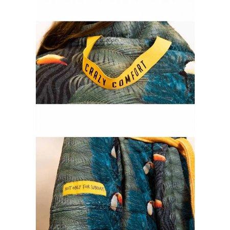 Crazy Comfort badjas badjas met toekans -  unisex