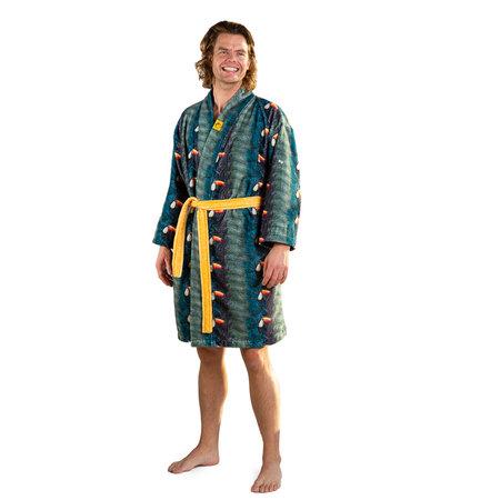 Crazy Comfort  badjas met toekans -  unisex