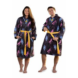 Crazy Comfort badjas badjas met luipaarden - unisex