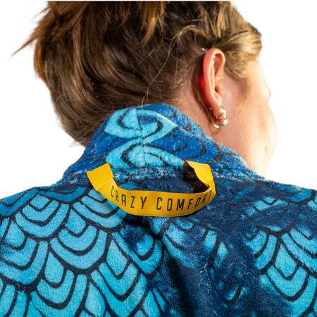Crazy Comfort  badjas retro-stijl - unisex