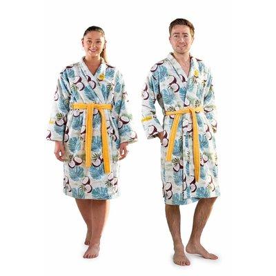 Crazy Comfort  badjas tropen met kokosnoten - unisex