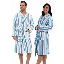 Katoenen badjas met strepen - unisex