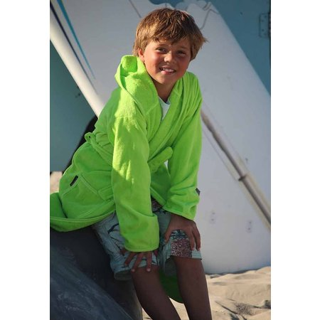 Badrock Kinderbadjas lime groen met naam borduren