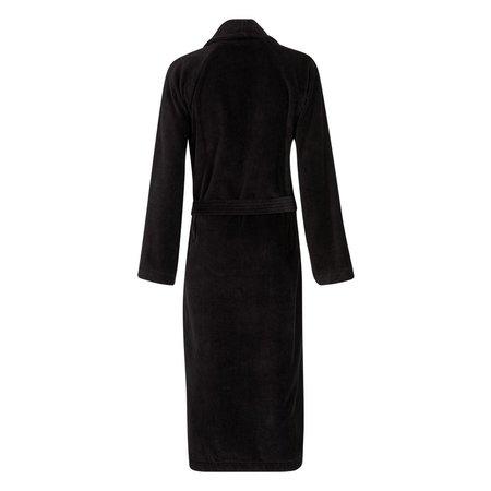 Badrock Zwarte velours badjas unisex met naam borduren