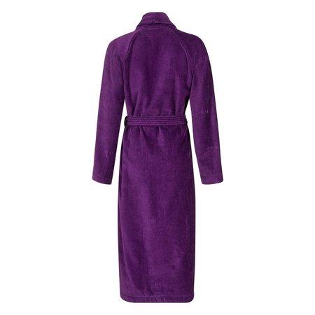 Badrock Paarse velours badjas unisex met naam borduren