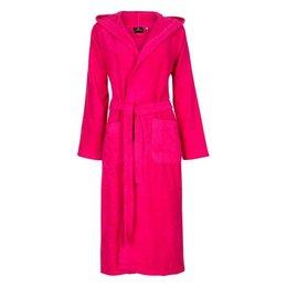 Badrock Roze capuchon badjas met naam borduren - badstof katoen