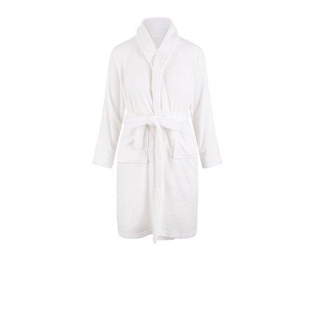 Relax Company  Witte fleece kinderbadjas met naam borduren