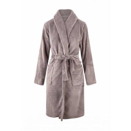 Relax Company  Taupe unisex fleecebadjas met naam borduren