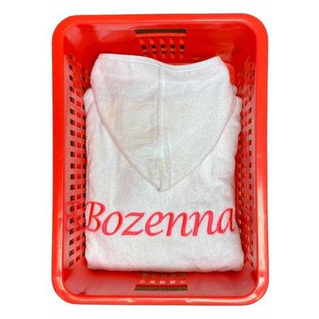Badrock Kinderbadjas wit met naam borduren