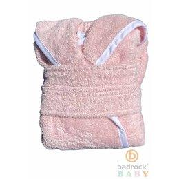 Badrock Baby  Roze baby badjas met naam borduren