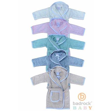 Badrock Baby  Zandkleurige baby badjas met naam borduren