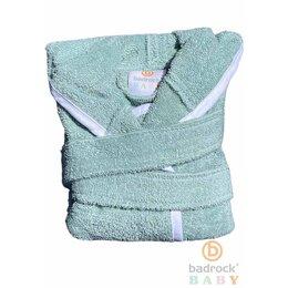 Badrock Baby  Groene baby badjas met naam borduren