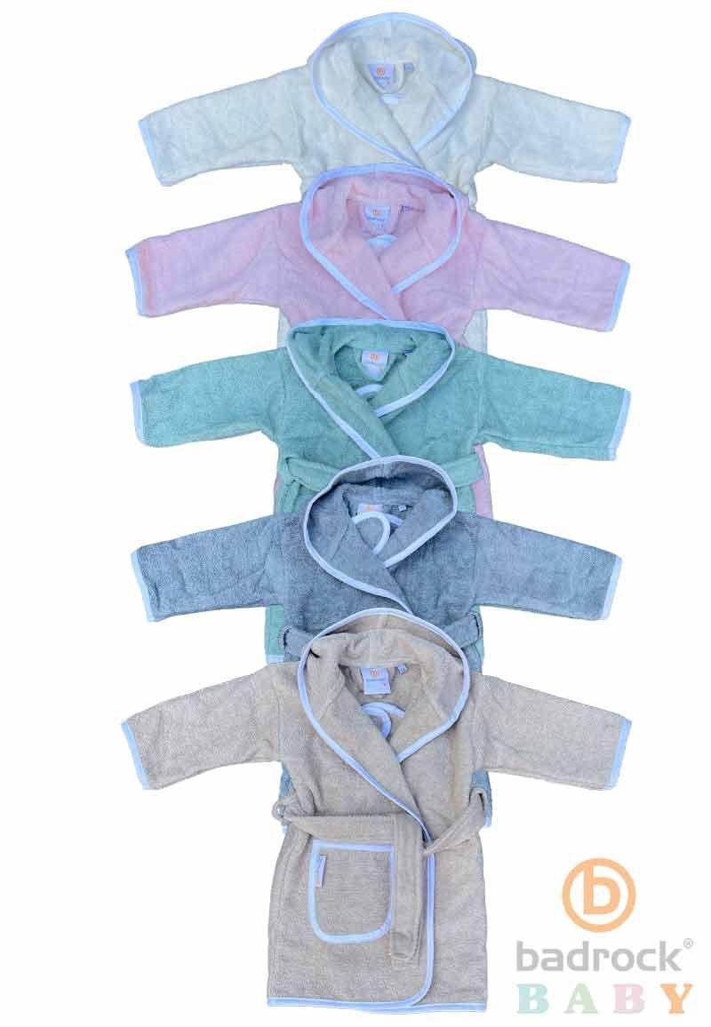 Badrock baby badjassen in pastelkleuren