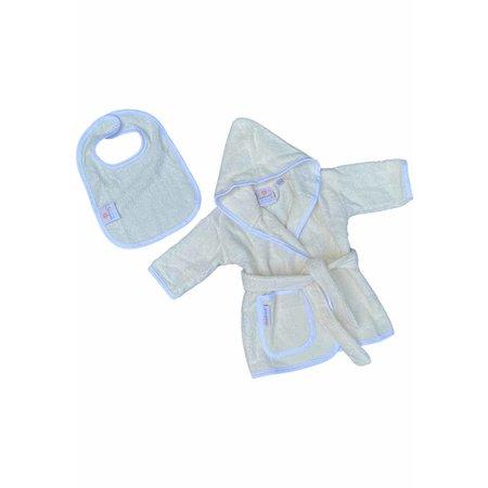 Badrock Baby  Créme baby badjas met naam borduren