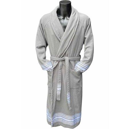 Badrock Hamam badjas luxe katoen - grijs