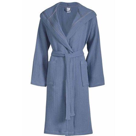 Van Dyck unisex badjas biologisch katoen - denimblauw