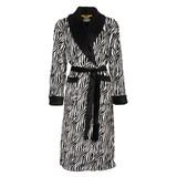 Zebra badjas dames fleece