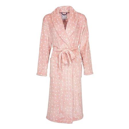 Sterren badjas dames roze - fleece
