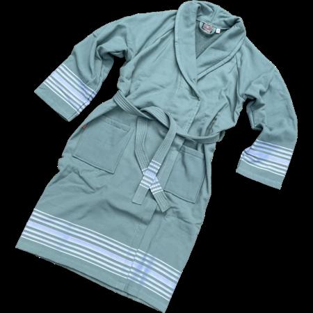 Badrock Hamam badjas luxe katoen - groen
