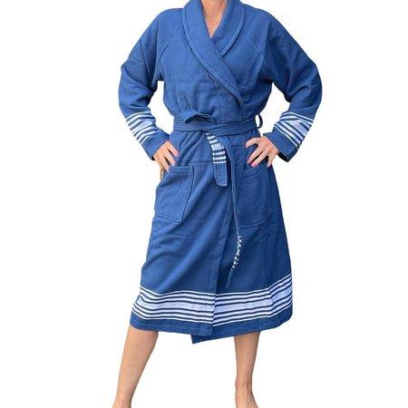 Badrock Hamam badjas luxe katoen - blauw