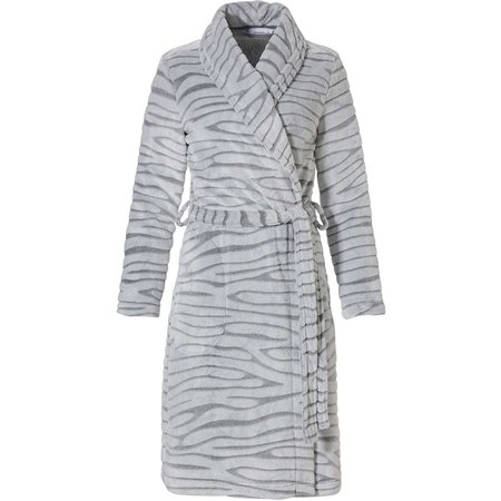 Pastunette  korte damesbadjas met dierenprint - fleece