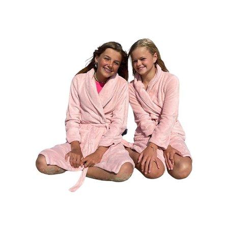 Relax Company  Relax Company kinderbadjas pastel oud roze