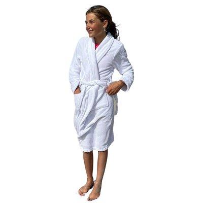 Relax Company  kinderbadjas fleece wit