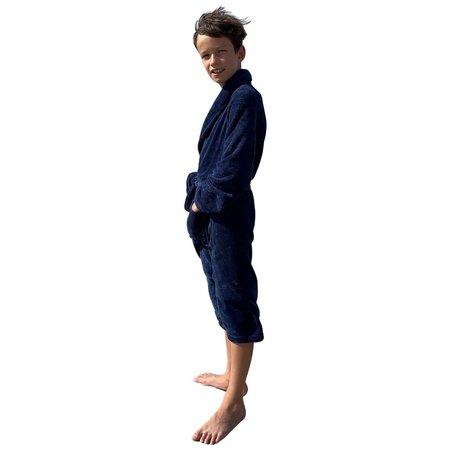 Relax Company  kinderbadjas fleece marineblauw