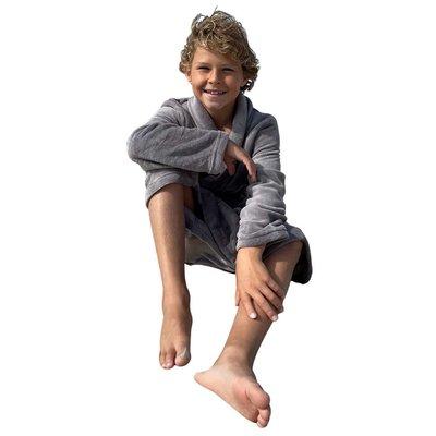 Relax Company  kinderbadjas lichtgrijs taupe lichtgrijs