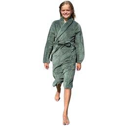 Relax Company  kinderbadjas olijf groen