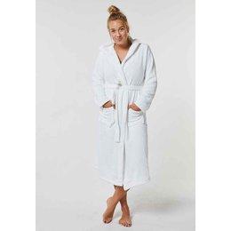 Badrock Witte badjas unisex met capuchon - fleece