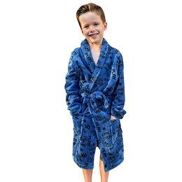 Blauwe kinderbadjas game - fleece