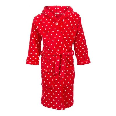 Playshoes  badjas kind Stippen rood met capuchon