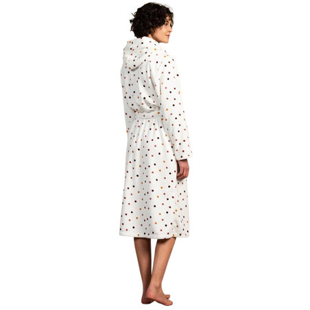 Eskimo Stippen badjas dames wit met capuchon