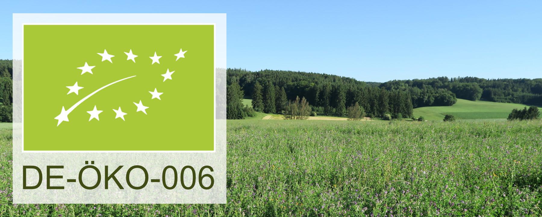 Wir sind Bio zertifiziert nach DE-ÖKO-006 / EG-Öko-Verordnung