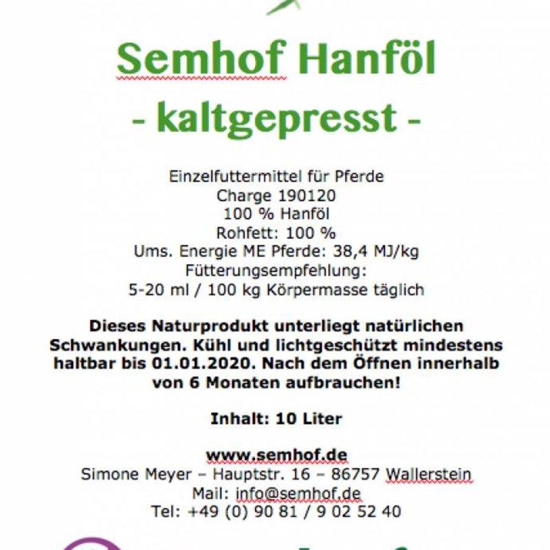 Semhof  Hanföl (Organic Hempoil)