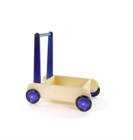 Van Dijk Houten Blokkenwagen Blauw