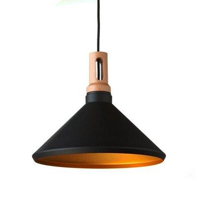 Absinthe LED hanglamp Timba Regular Zwart/goud