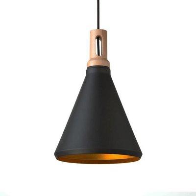 Absinthe Timba Slim LED hanglamp zwart/goud 25021-02.10