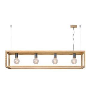 Lucide ORIS LED hanglamp Hout 31472/04/72