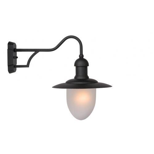Lucide ARUBA - Wandlamp Buiten - Ø 25 cm - 1xE27 - IP44 - Zwart