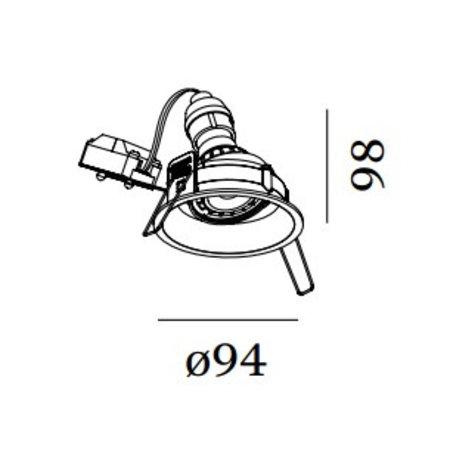 Wever & Ducré Inbouwspot DEEP Adj zwart 112320B0