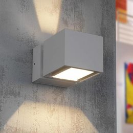 LioLights Modern LED wall fitting IP54 BFELD Alu
