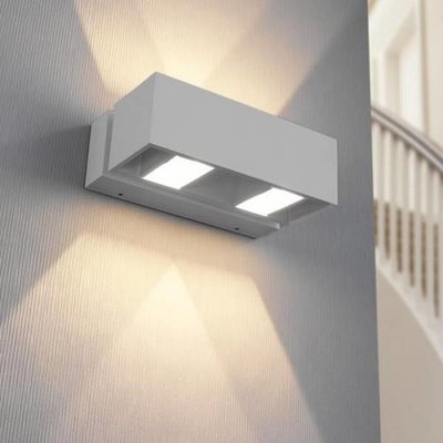 Modern LED wall fitting IP54 BFELDII Alu